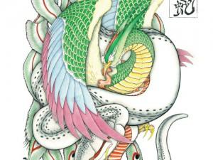カレンダー11月,12月『鳳凰と蛇』