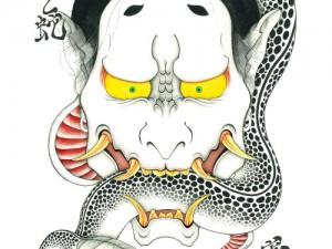 カレンダー1月,2月『般若と蛇』