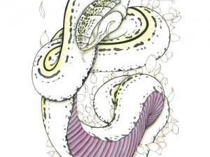 カレンダー3月,4月『櫻と蛇』