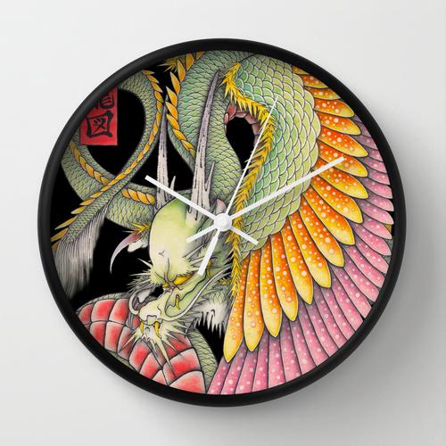 応龍の時計/WING DRAGON WALL CLOCK