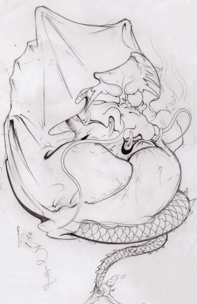 龍の達磨画像