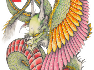Wing dragon sticker