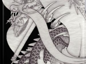 和柄iPhoneケース『長いものを巻くもの(龍と蛇と反物)』