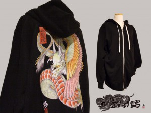 Japanese tattoo style hoodies  WING DRAGON