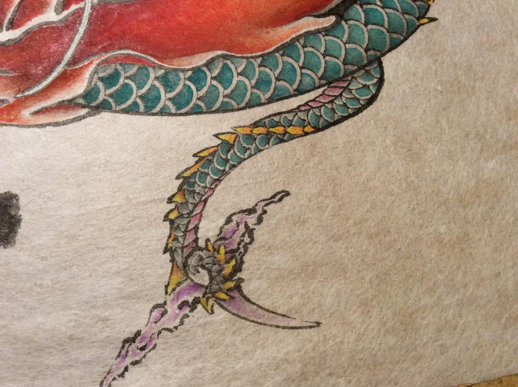 達磨龍の尻尾アップ画像
