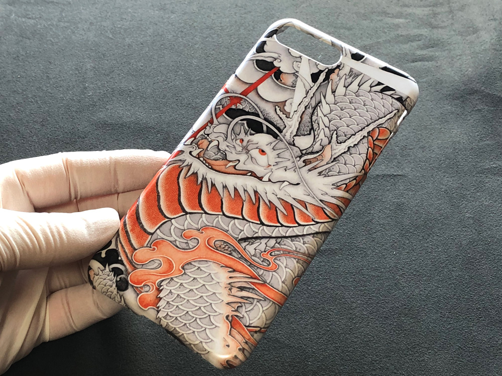 iPhone 8・iPhone 8plus用和柄ケース『台風龍』紹介画像1