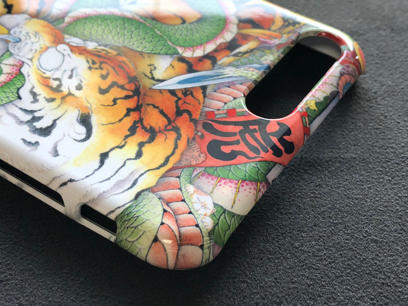 iPhone 8・iPhone 8plus case Tiger vs dragon 3
