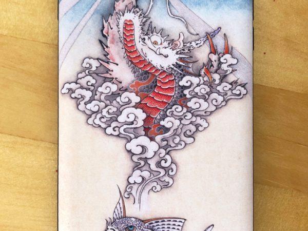 (日本語) 和柄iPhoneケース『コリドラスの夢』