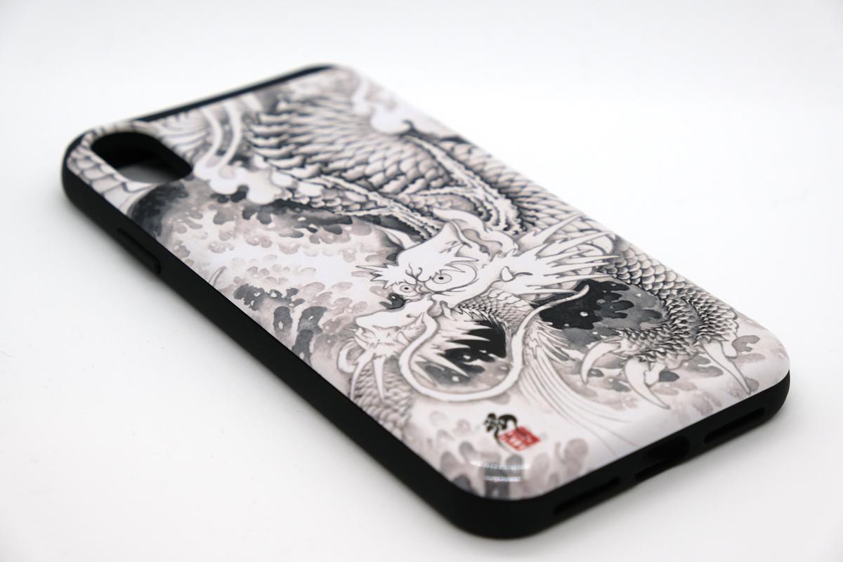 和柄iPhoneケース『水墨龍』の画像
