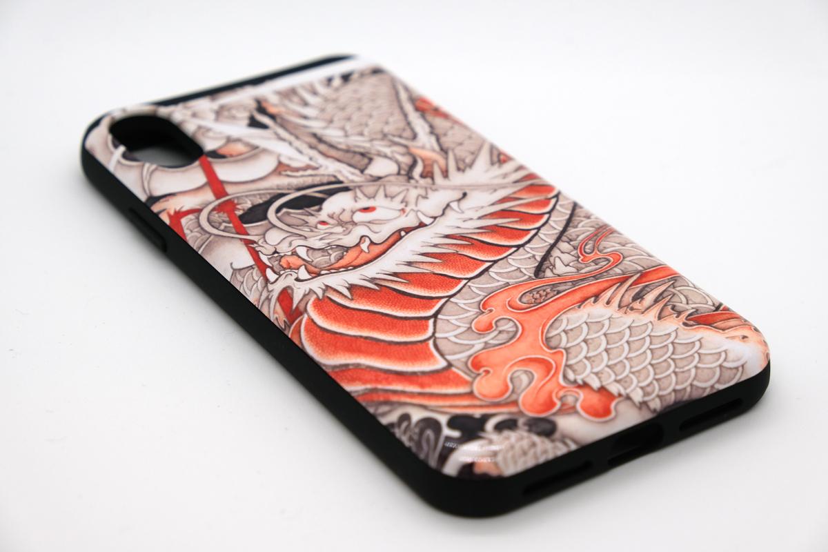 和柄iPhoneケース『台風龍』の画像