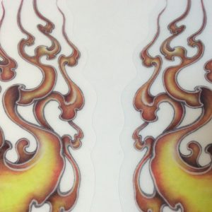 I made the Fire pattern sticker of Japan which you could put on the motorcycle.