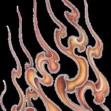 Fire pattern sticker of Japan typeB和柄ファイヤーパターンステッカーB