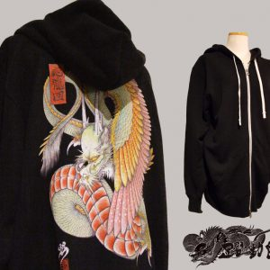 [:en]Japanese tattoo style hoodies  WING DRAGON [:ja]和柄パーカー『応龍』[:]