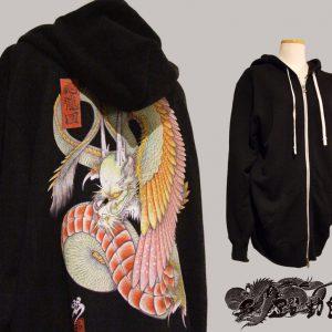 [:en]Japanese tattoo style hoodies  WING DRAGON [:ja]和柄パーカー『応龍』[:]