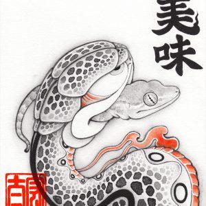 [:en]Snake eat Gecko[:ja]ヤモリを食べる蛇[:]