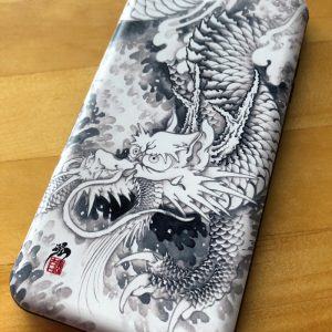 [:en]Japanese iPhone case ink painting dragon180411[:ja]和柄iPhoneケース『水墨龍』[:]