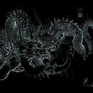 [:ja]『笄蛭(コウガイヒル)と龍』 下絵[:]